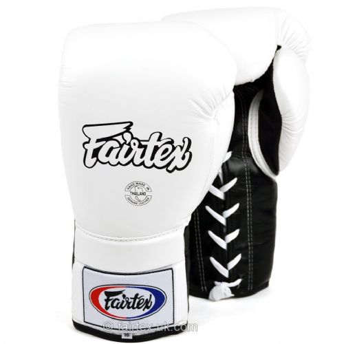 Fairtex Lace Up Sparring Gloves - White/Black